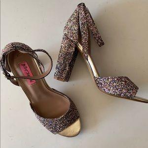 Glitter Betsey Johnson Heels!